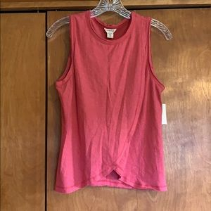 Lucky Brand Criss Cross Front Tank Top Coral Small